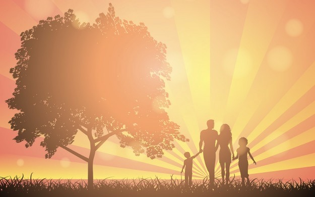 silhouettes-of-a-family-walking-in-the-countryside_1048-2199